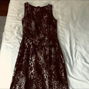 David Meister leopard dress Sixe S
